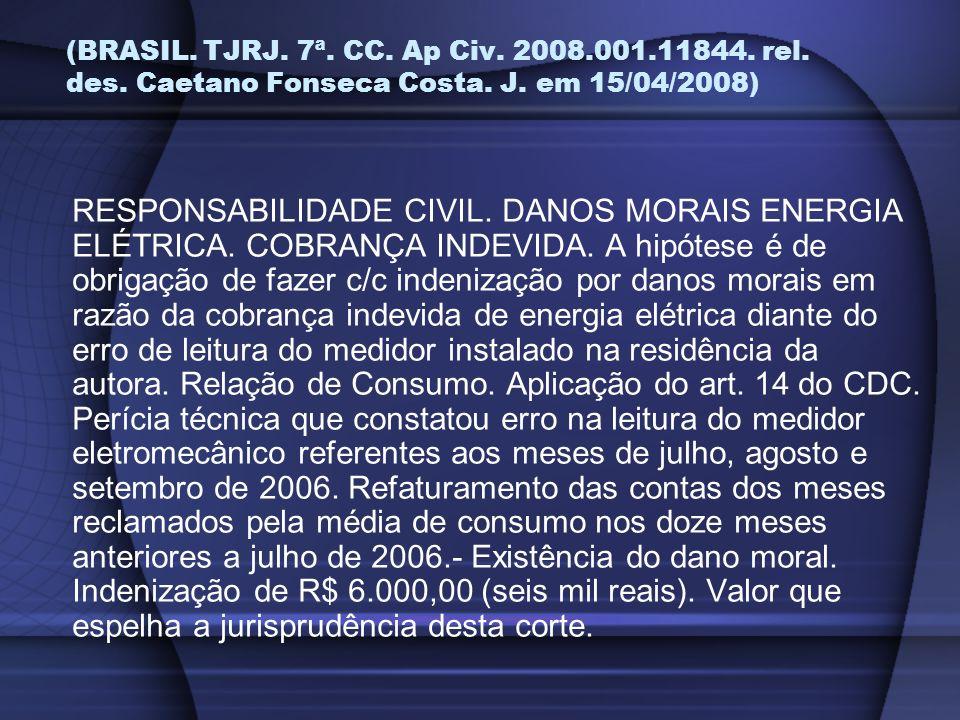 (BRASIL. TJRJ. 7ª. CC. Ap Civ. 2008. 001. 11844. rel. des
