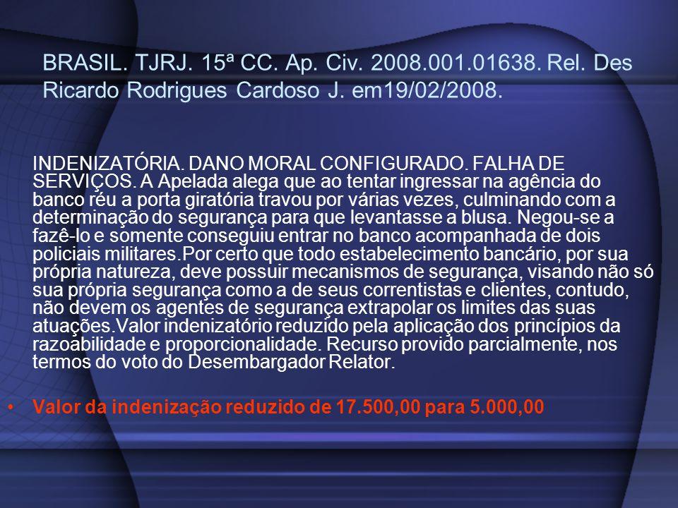 BRASIL. TJRJ. 15ª CC. Ap. Civ. 2008. 001. 01638. Rel