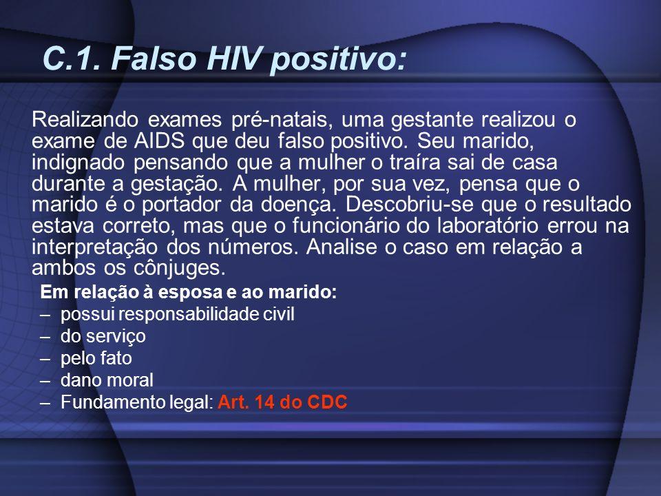 C.1. Falso HIV positivo: