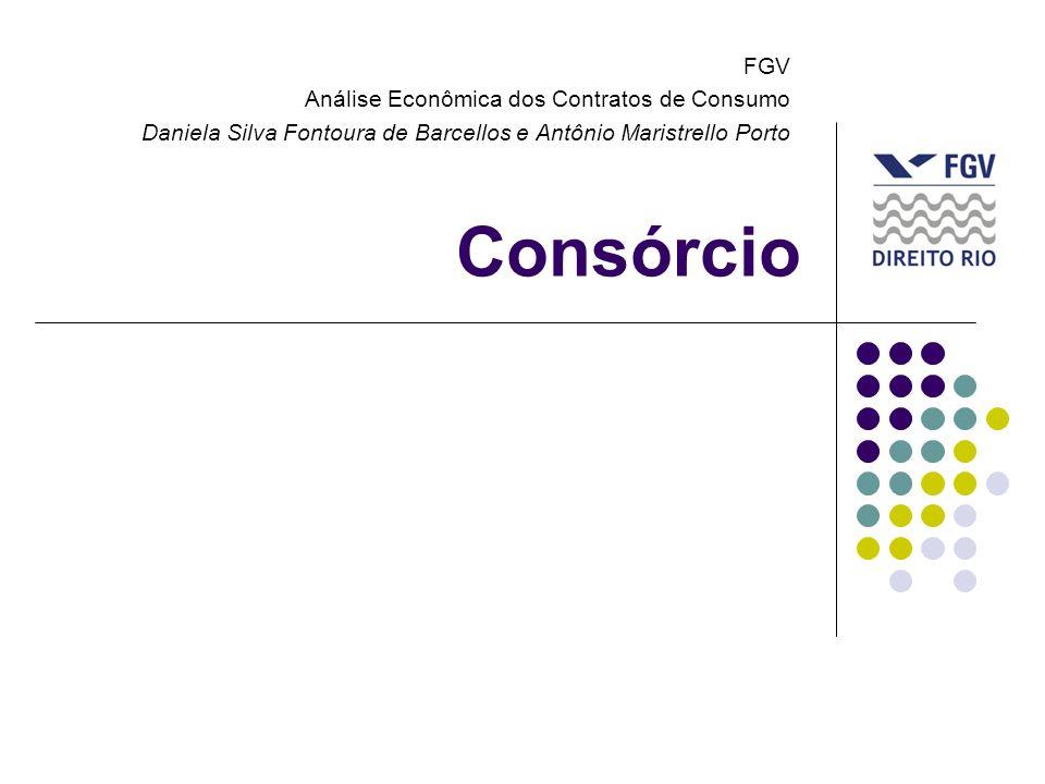 Consórcio FGV Análise Econômica dos Contratos de Consumo