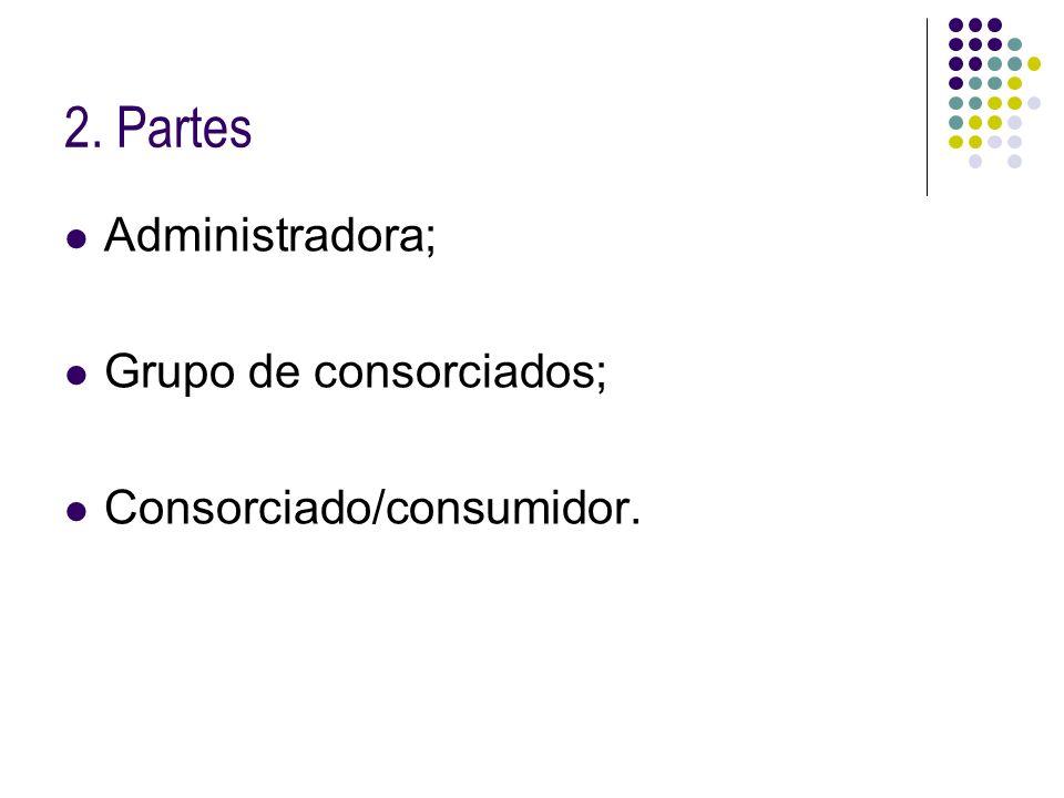 2. Partes Administradora; Grupo de consorciados;