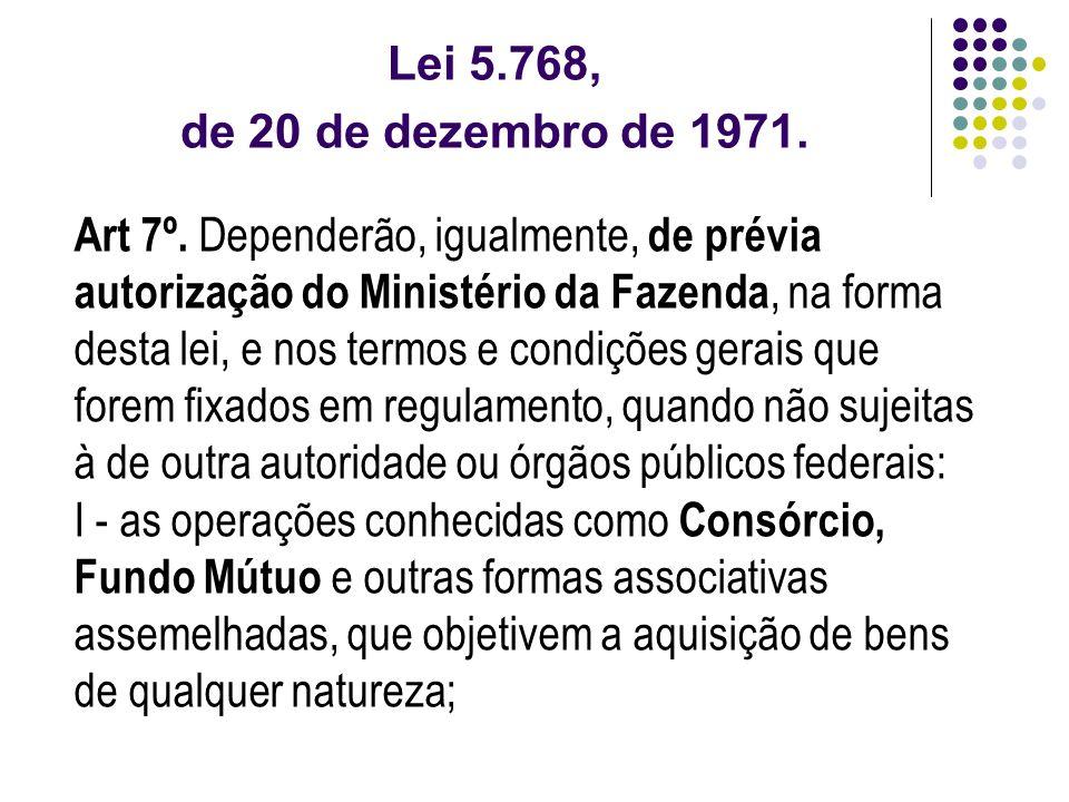 Lei 5.768, de 20 de dezembro de 1971.