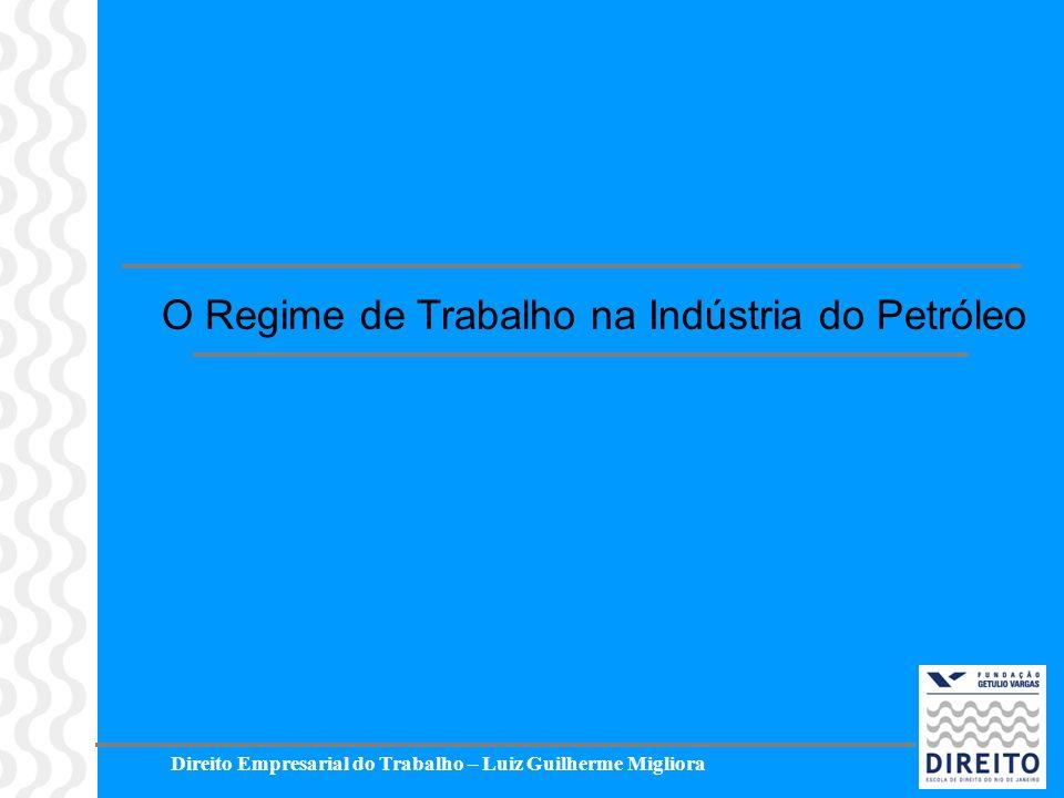 O Regime de Trabalho na Indústria do Petróleo