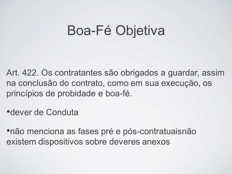 Boa-Fé Objetiva