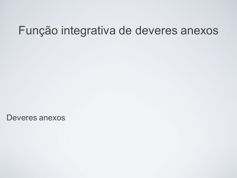 Função integrativa de deveres anexos