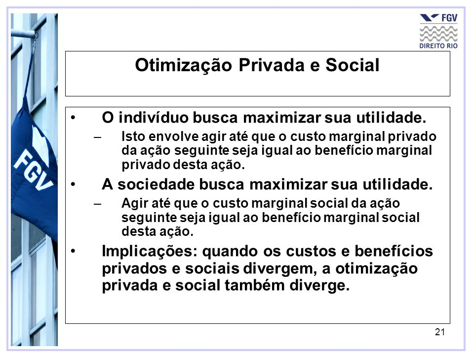 Otimização Privada e Social