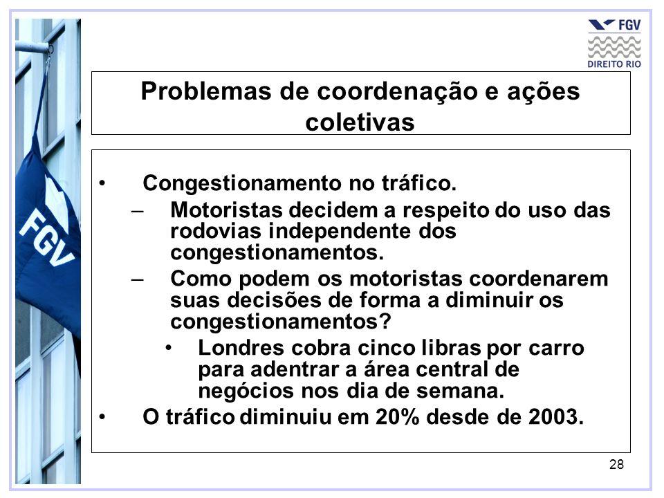 Problemas de coordenação e ações coletivas
