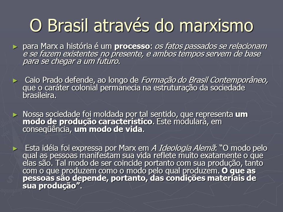 O Brasil através do marxismo