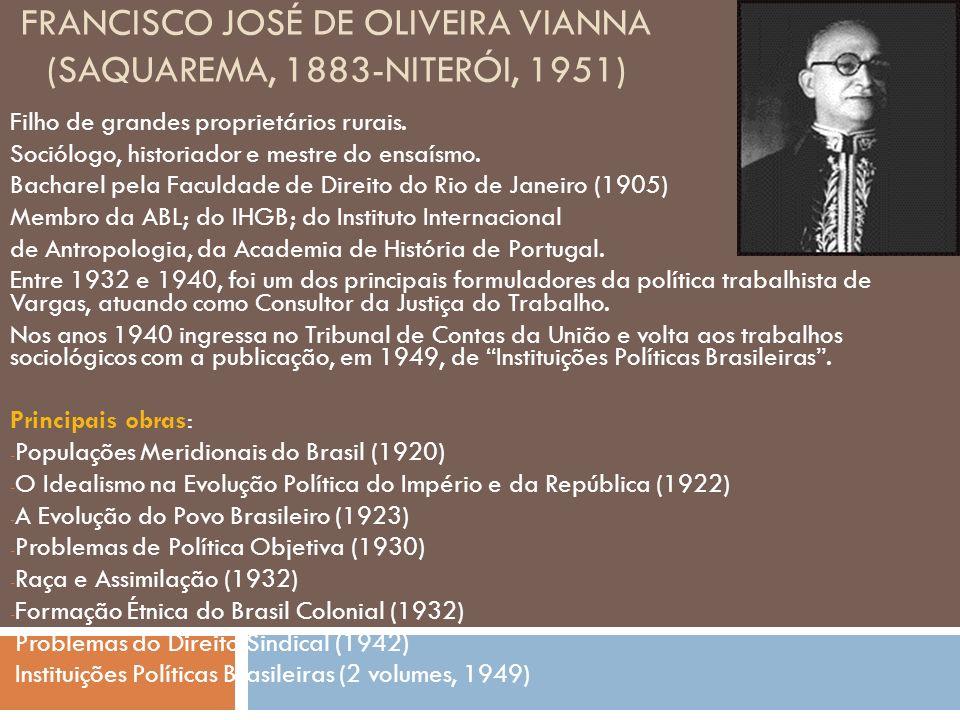 Francisco José de Oliveira Vianna (Saquarema, 1883-Niterói, 1951)