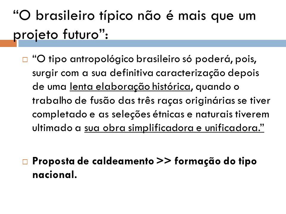O brasileiro típico não é mais que um projeto futuro :