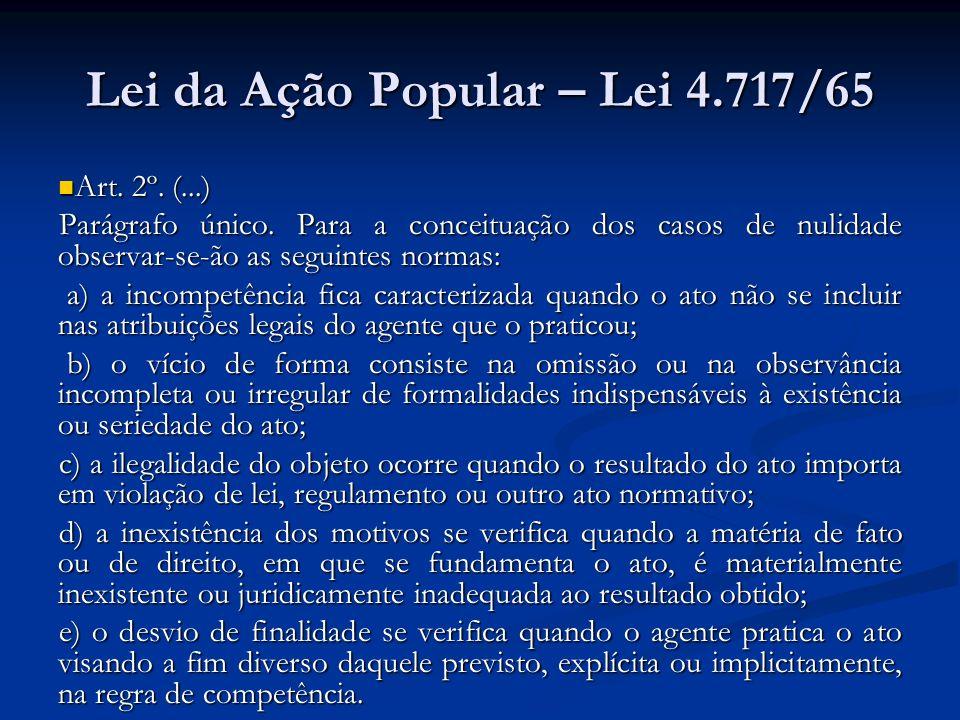 Lei da Ação Popular – Lei 4.717/65