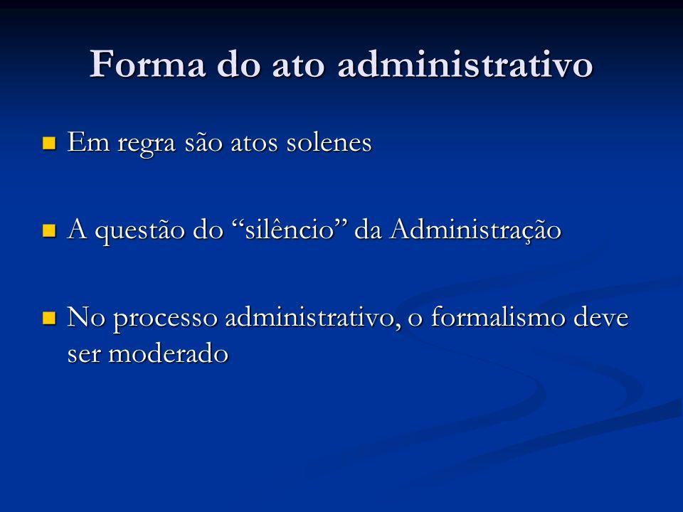 Forma do ato administrativo