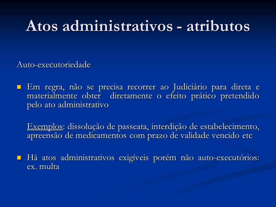 Atos administrativos - atributos