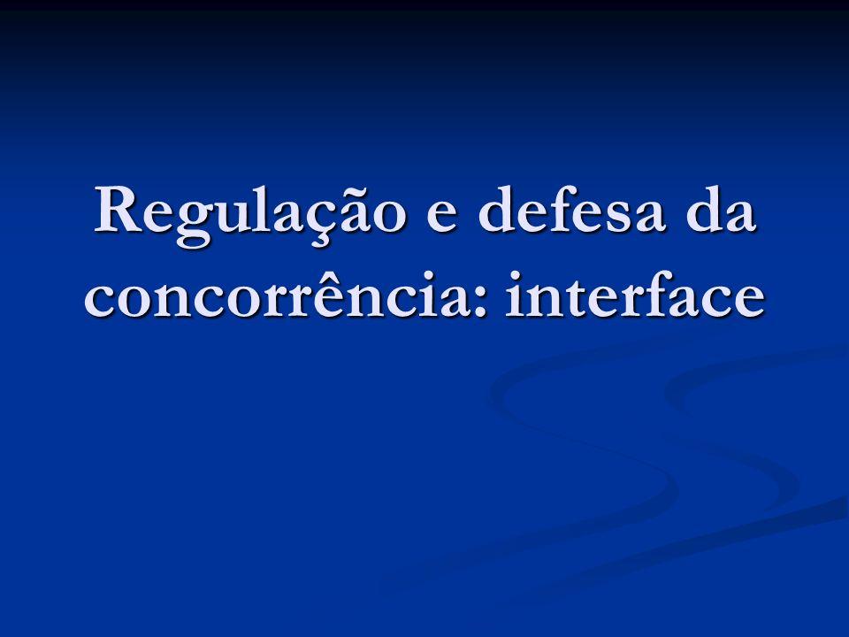 Regulação e defesa da concorrência: interface