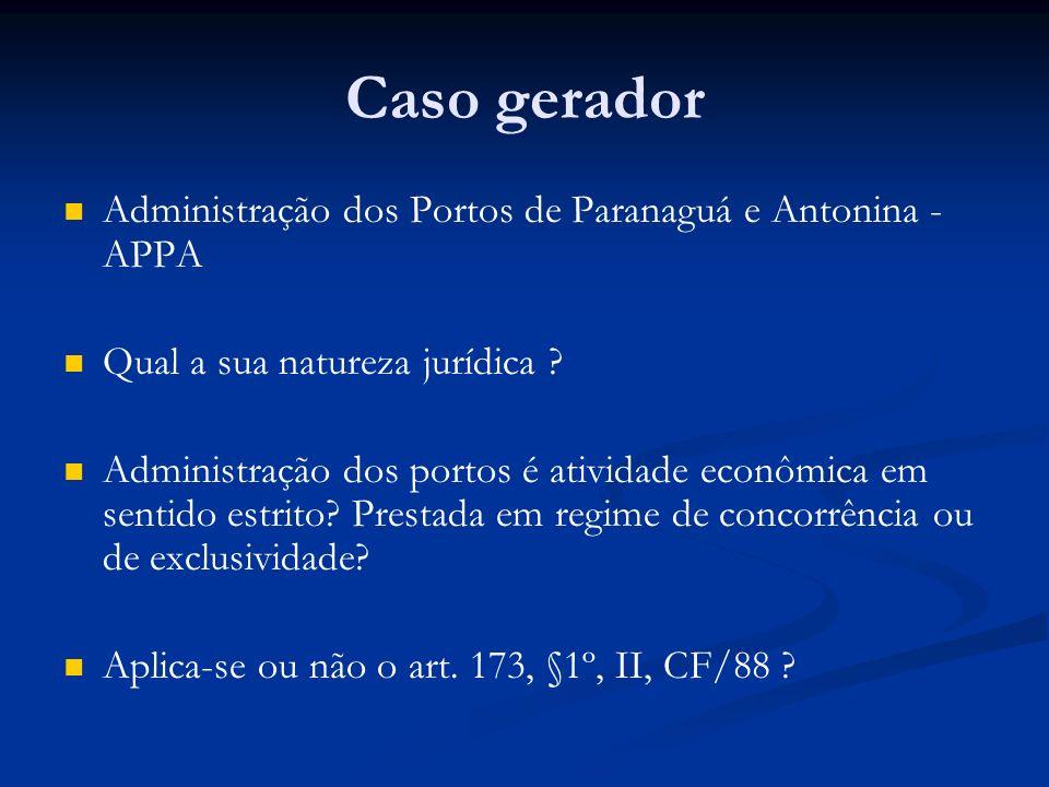 Caso gerador Administração dos Portos de Paranaguá e Antonina - APPA