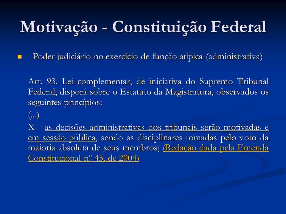 Motivação - Constituição Federal