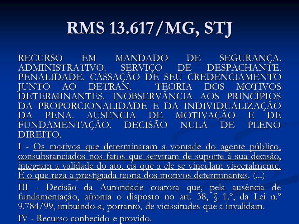 RMS 13.617/MG, STJ
