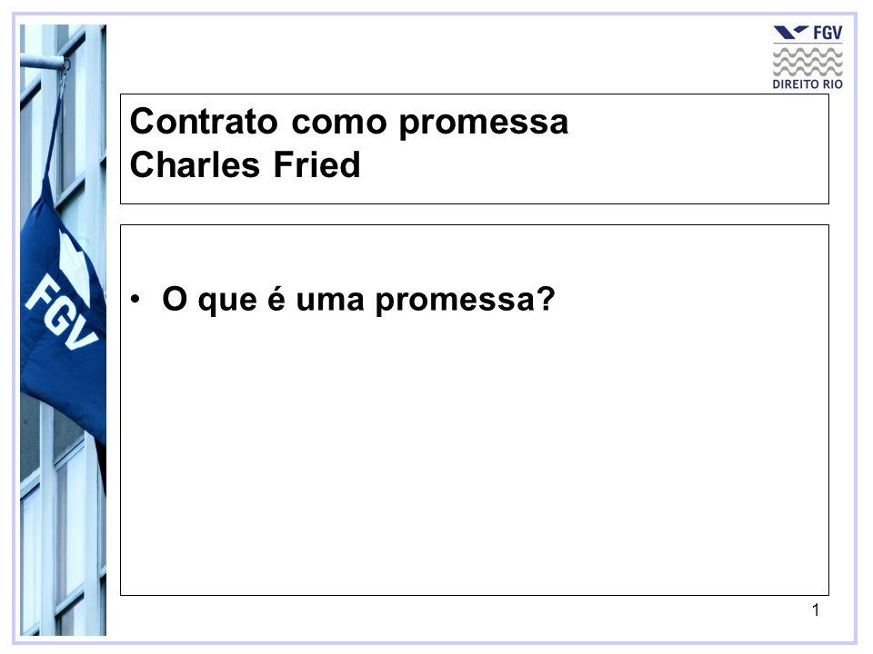Contrato como promessa Charles Fried