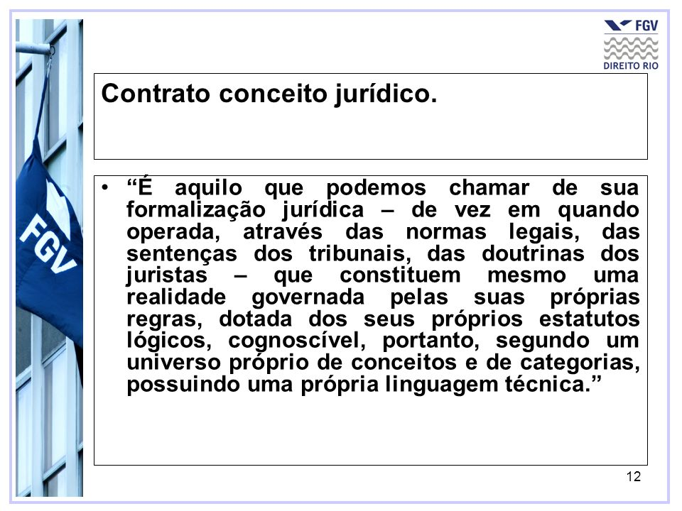 Contrato conceito jurídico.