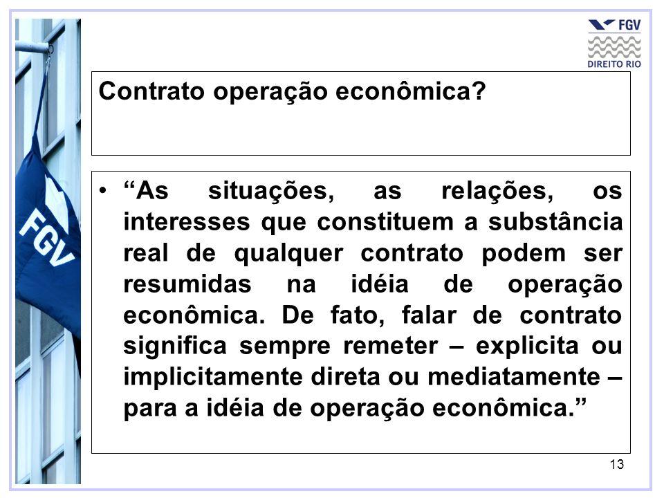 Contrato operação econômica