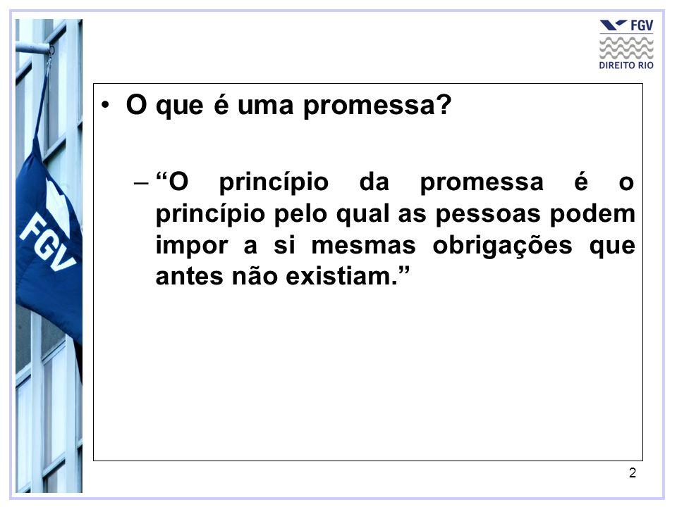 O que é uma promessa.