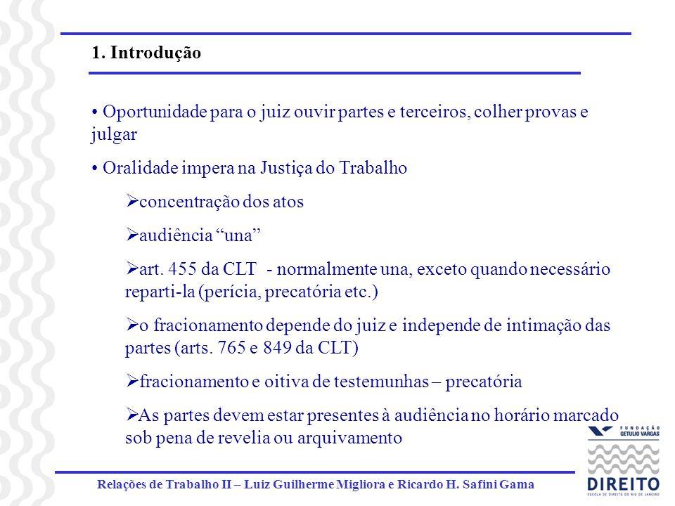 Oralidade impera na Justiça do Trabalho concentração dos atos