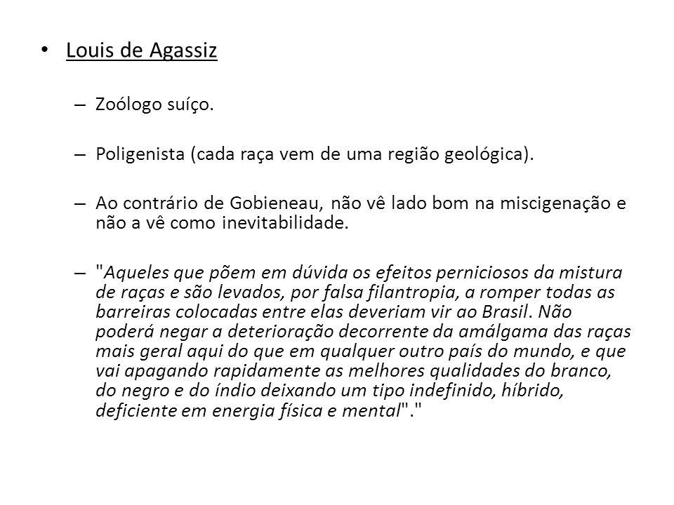 Louis de Agassiz Zoólogo suíço.