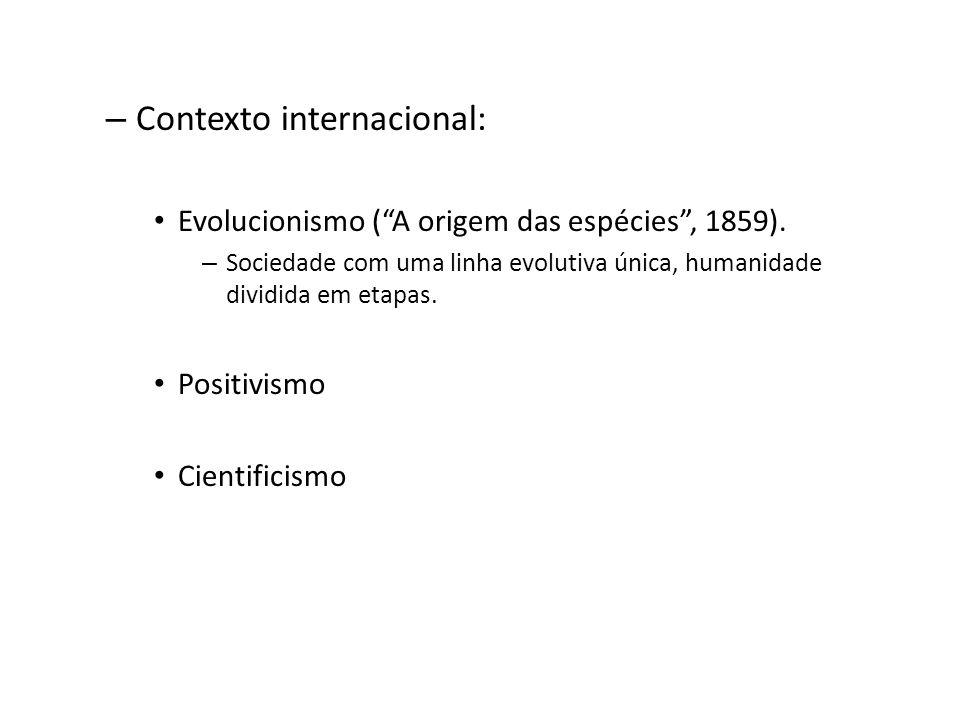Contexto internacional: