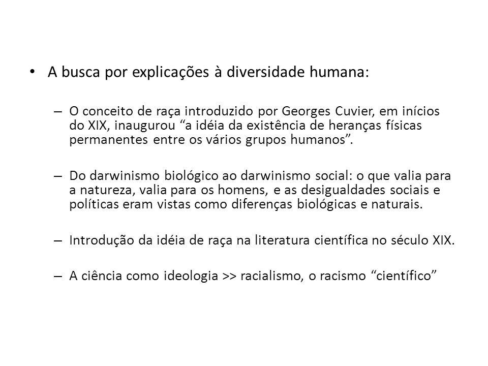 A busca por explicações à diversidade humana: