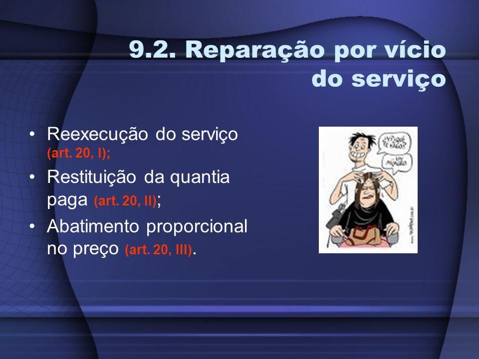9.2. Reparação por vício do serviço