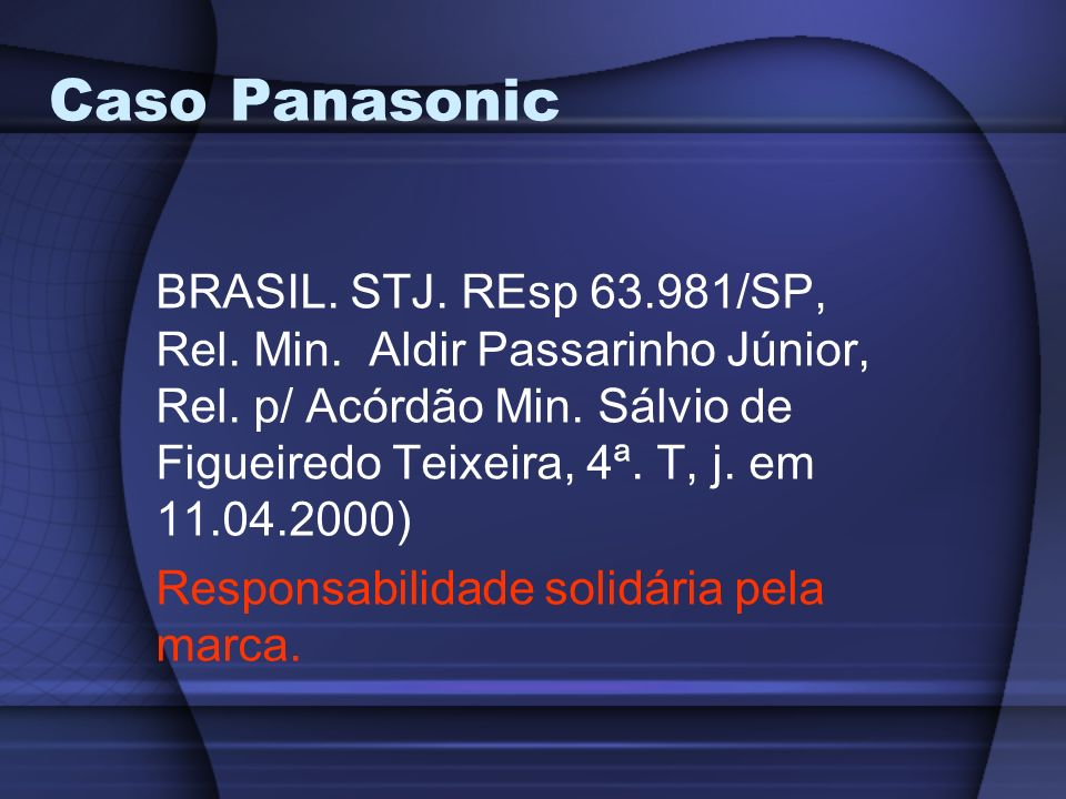 Caso Panasonic