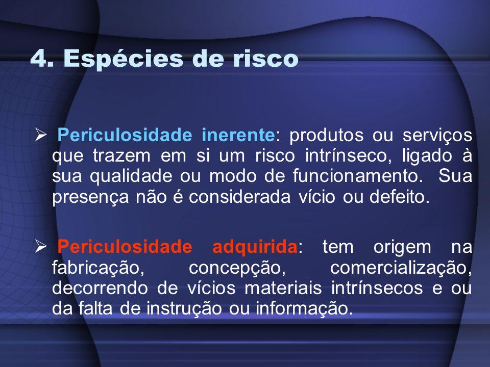 4. Espécies de risco