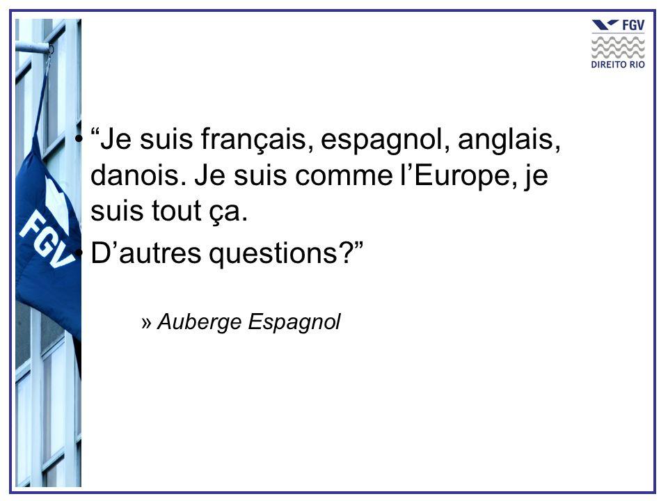 Je suis français, espagnol, anglais, danois