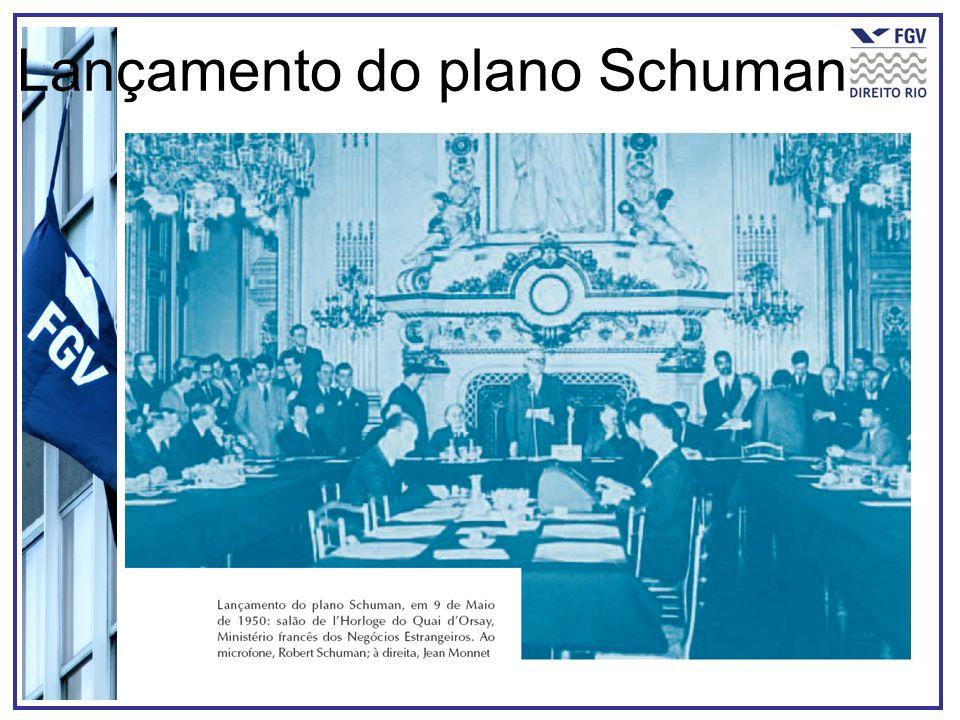 Lançamento do plano Schuman