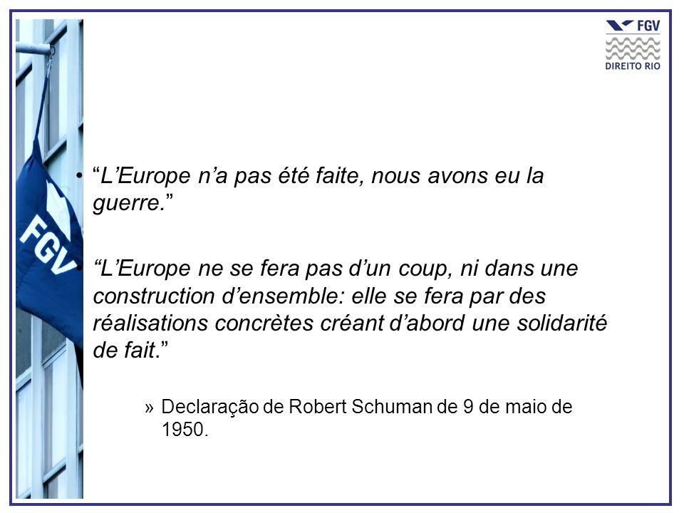 L'Europe n'a pas été faite, nous avons eu la guerre.