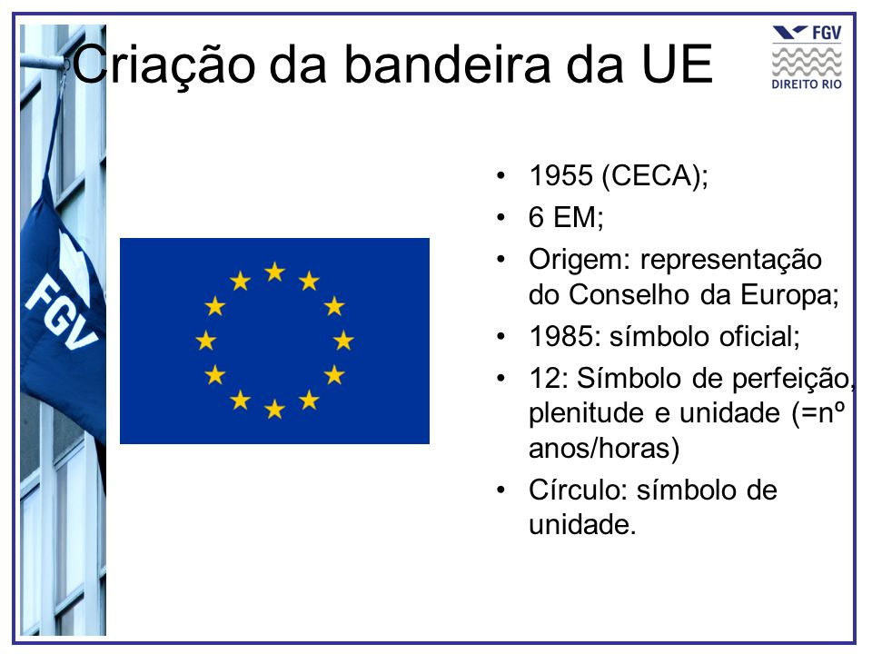 Criação da bandeira da UE