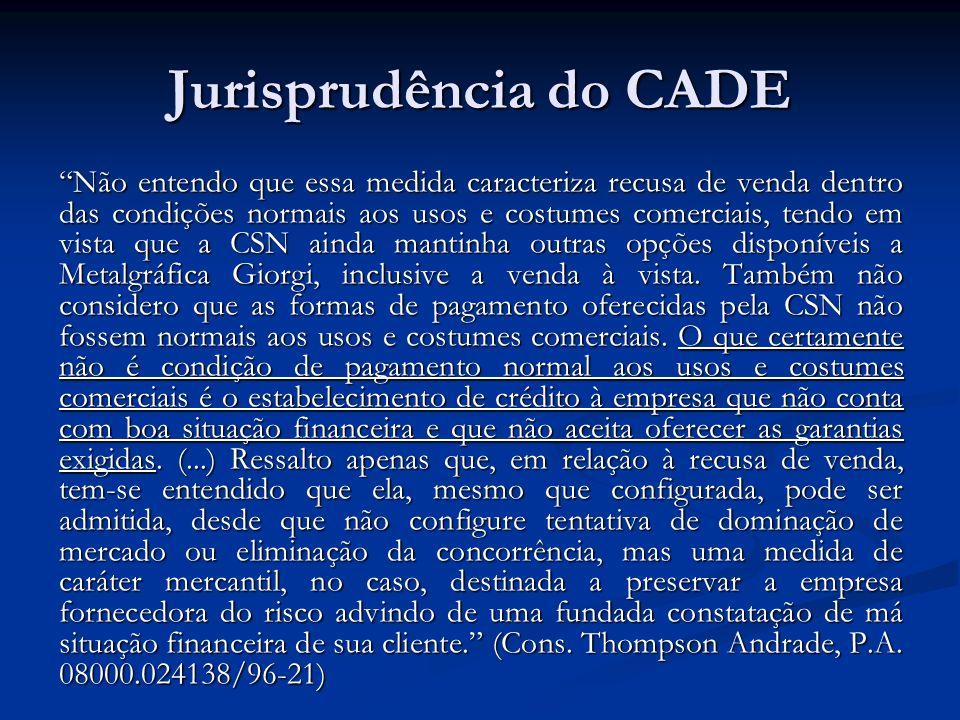 Jurisprudência do CADE