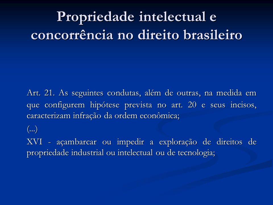 Propriedade intelectual e concorrência no direito brasileiro