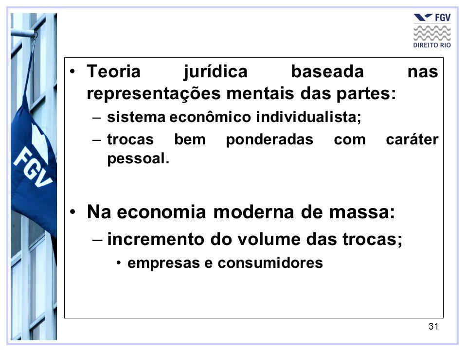 Na economia moderna de massa: