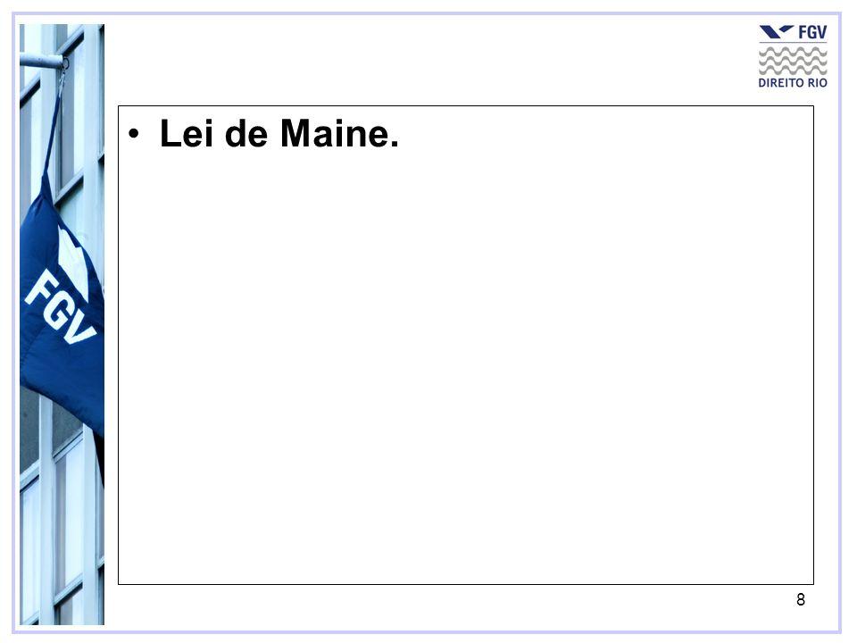 Lei de Maine.