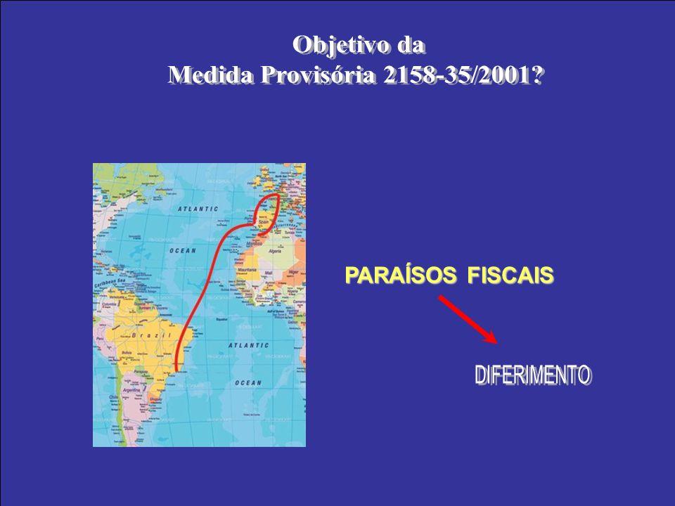 Objetivo da Medida Provisória 2158-35/2001