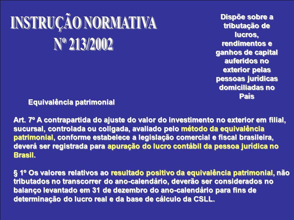 INSTRUÇÃO NORMATIVA Nº 213/2002