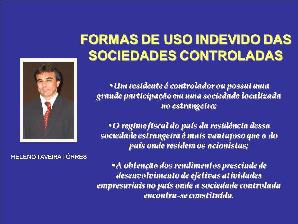 FORMAS DE USO INDEVIDO DAS SOCIEDADES CONTROLADAS