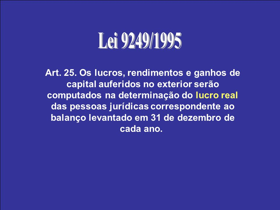 Lei 9249/1995