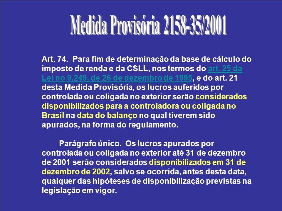 Medida Provisória 2158-35/2001