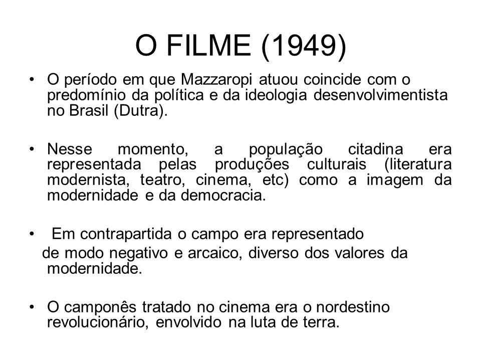 O FILME (1949) O período em que Mazzaropi atuou coincide com o predomínio da política e da ideologia desenvolvimentista no Brasil (Dutra).