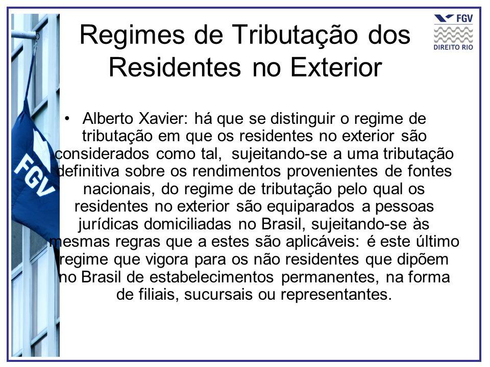 Regimes de Tributação dos Residentes no Exterior