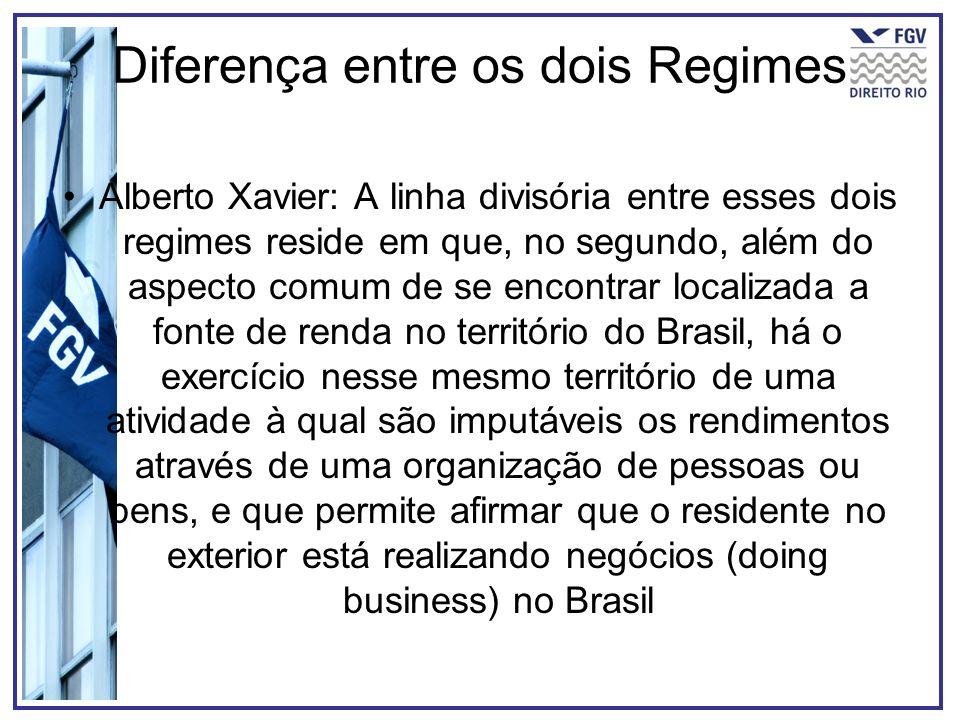Diferença entre os dois Regimes