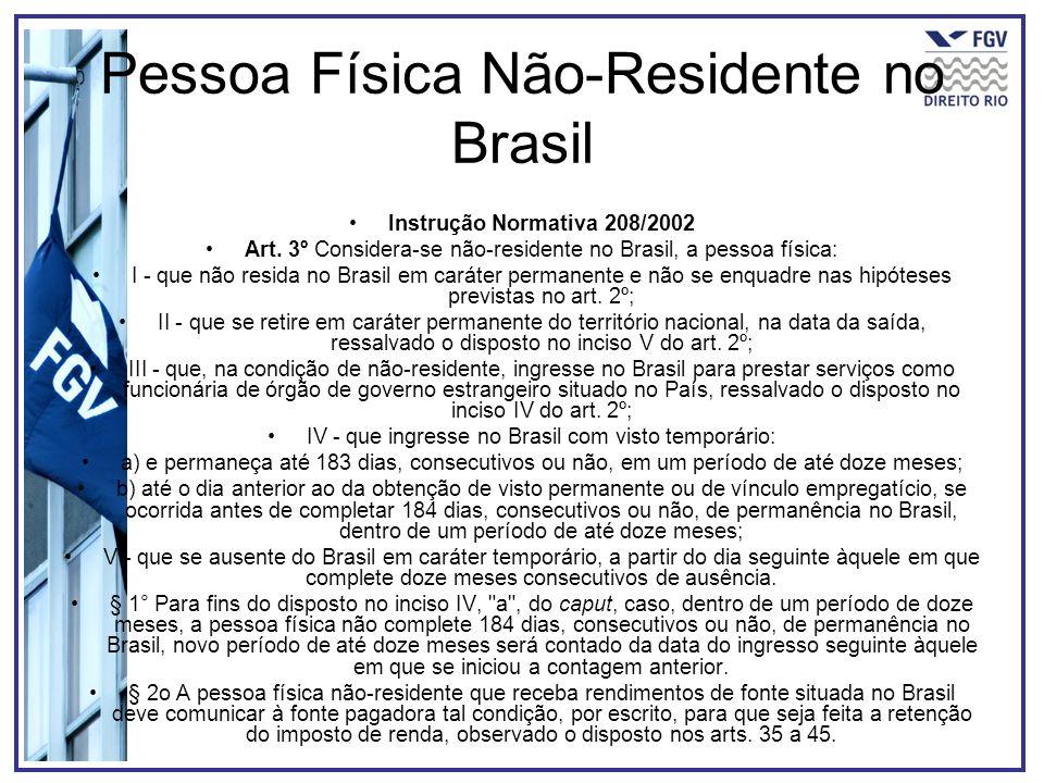 Pessoa Física Não-Residente no Brasil