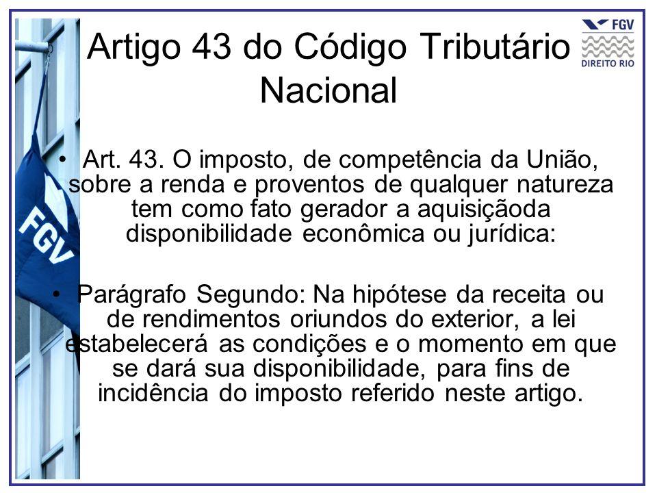 Artigo 43 do Código Tributário Nacional